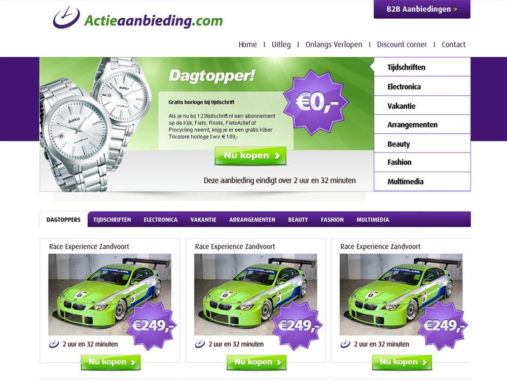 webdesign actieaanbieding